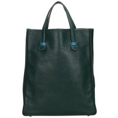 Hermes Dark Green Leather Galop Tote