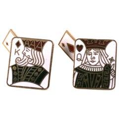 Enamel King and Queen Cufflinks