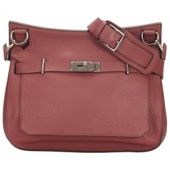 Hermes Pink Clemence Jypsiere 34 Bag