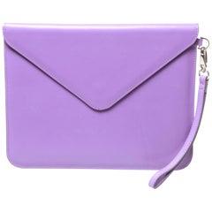 Paper Thinks purple envelope clutch