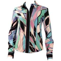 Emilio Pucci vintage Cotton button up Shirt, 1970s