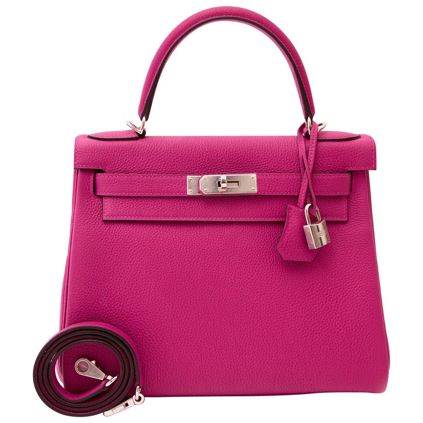 Hermès Kelly 28 Togo Pourpre PHW Bag