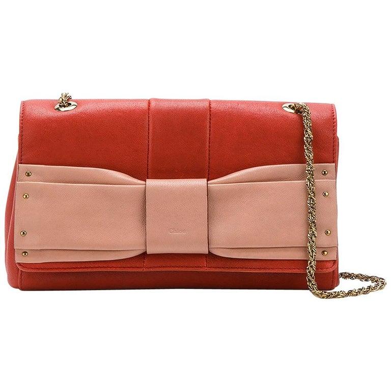 Chloé June Bow-Embellished Leather Bag