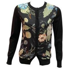 Gucci Floral Silk Cardigan