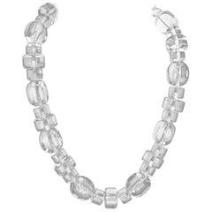 Dominique Aurientis Paris Vintage Clear Lucite Necklace