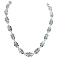 Vintage Art Deco 1920s Faceted Crystals Necklace