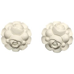 Vintage 1950s Floral Clip Earrings