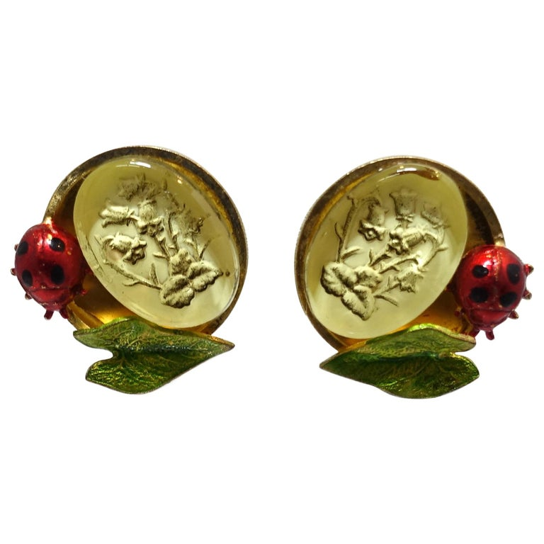Vintage Signed Claudine Vilry Paris Earrings For Sale