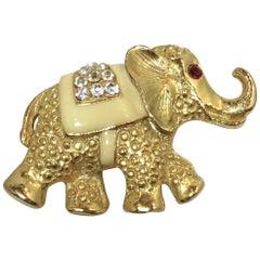 Vintage !960s Elephant Brooch