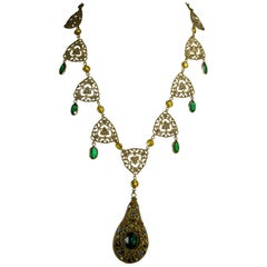 Early 1930s Vintage Czech Dangling Necklace