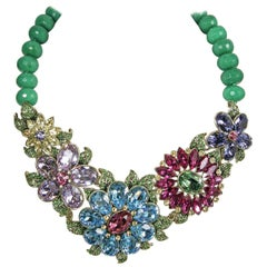 Heidi Daus Multicolor Floral Necklace