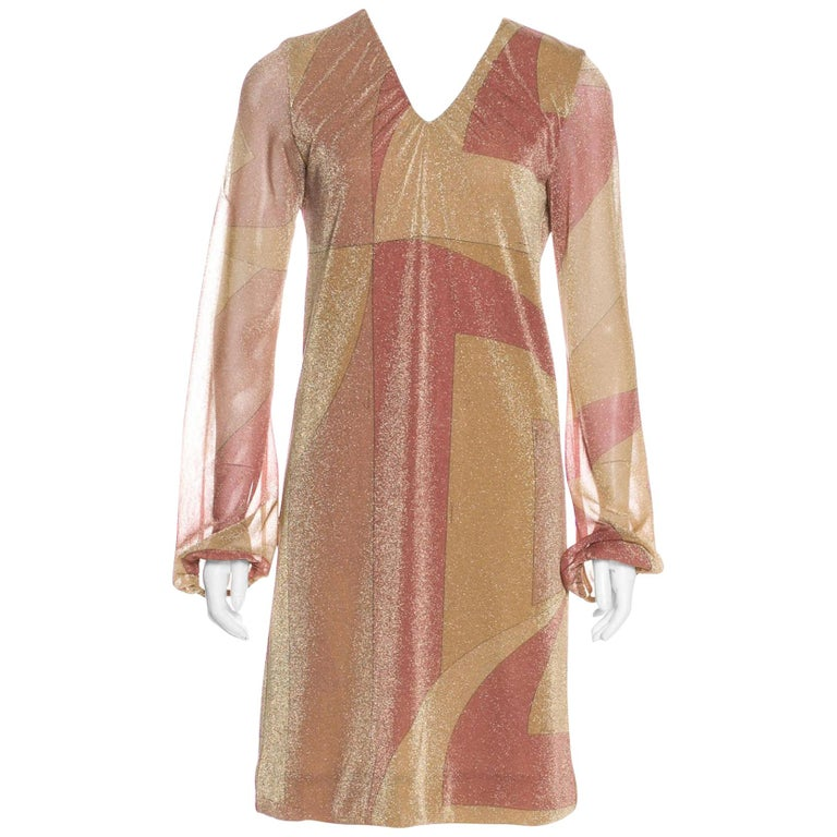 New Tom Ford for Gucci Runway Lycra Metallic Cocktail Dress, F / W 2000 It. 42