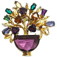 Floral Vintage Brooch attributed to DeRosa