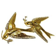 """Sorrell Originals by Robert Sorrell """"Birds in Flight"""" Brooch"""