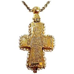 Early Mademoiselle Chanel Byzantine Cross by Robert Goossens
