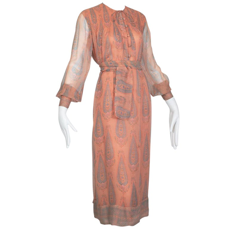 Treacy Lowe Indian Summer Paisley Dress 1970s For Sale At