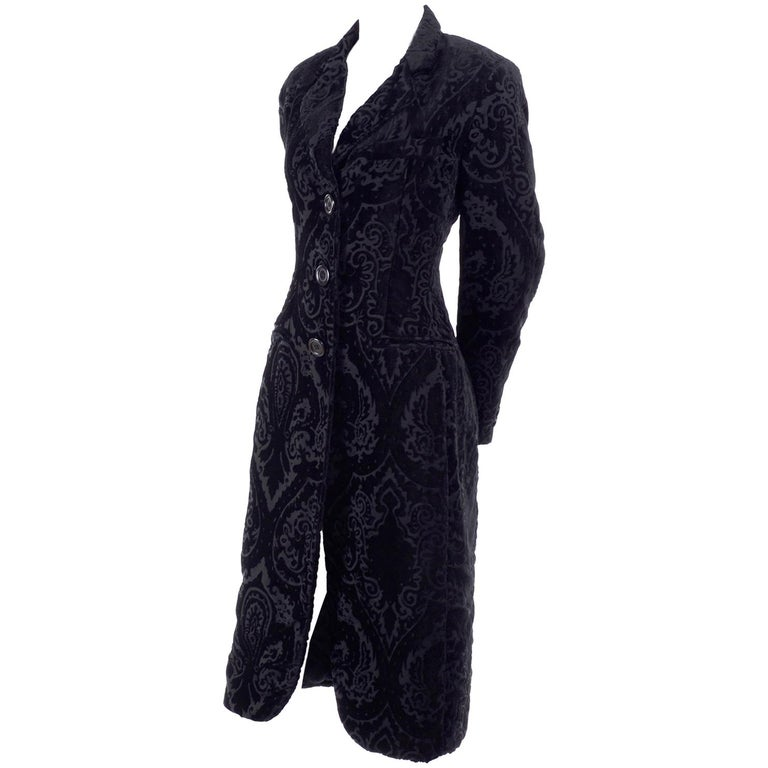 Dolce & Gabbana Cut Velvet Vintage Evening Coat