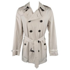 Burberry London Khaki Windbreaker Double Breasted Trench Coat