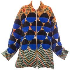 Dries Van Noten Runway Viscose Silk Velvet Quilted Jacket, Fall 2017
