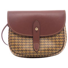 Ghurka Marley Hodgson Houndstooth Small Cartridge Shoulder Bag, Circa 1990s