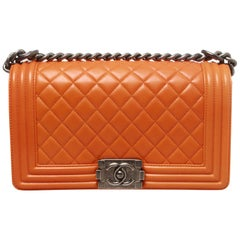 Chanel medium lambskin quilted boy bag