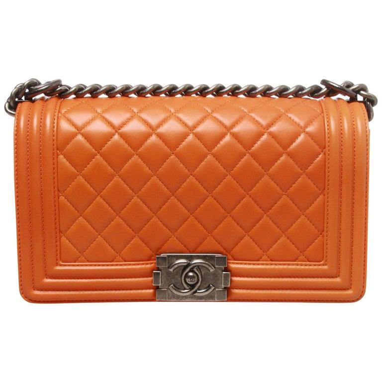 Chanel medium lambskin quilted boy bag