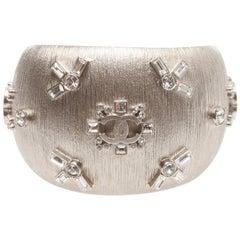 Chanel Silver Sparkling cuff/bracelet