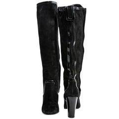 PIERRE HARDY Boots in Black Velvet Calfskin leather