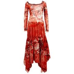 Jean Paul Gaultier Degas Ballerina Print Mesh Maxi Skirt Ensemble