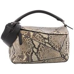 Loewe Puzzle Bag Python Medium