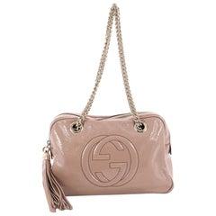 Gucci Soho Chain Zipped Shoulder Bag Patent Small