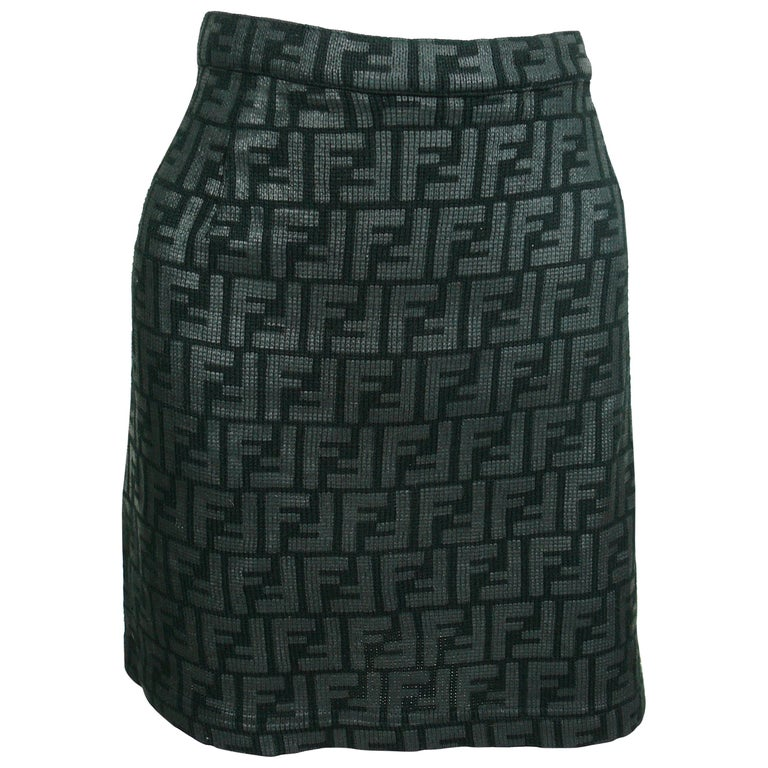 Fendi All Over Logo Skirt For Sale