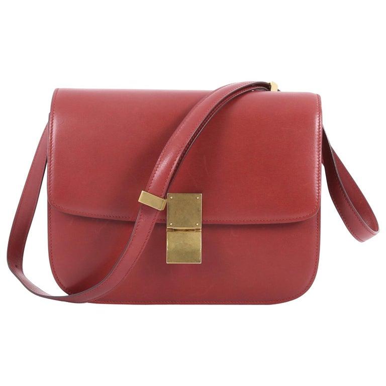 Celine Box Bag Smooth Leather Medium at 1stdibs 7eaa920f143a4
