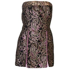 Brocade Vintage Top / Mini Dress