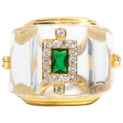 Art Deco Style Palm Beach Large Ring