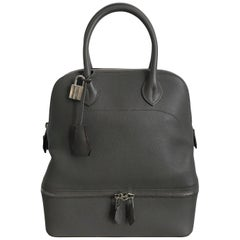 Hermes Sac Bolide Secret PM Etain Veau Evercolor Bag