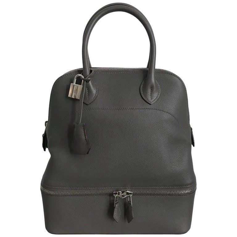Hermes Sac Bolide Secret PM Etain Veau Evercolor Bag