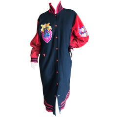 KANSAI YAMAMOTO Rare Collectible Unisex Varsity Coat from 1981