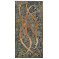 Sigi Pineda Mixed Metal and Stone Mosaic Wall Plaque