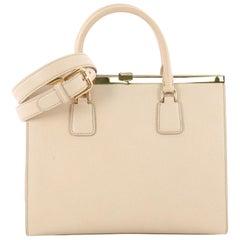 Dolce & Gabbana Convertible Lock Compartment Handbag Leather Medium