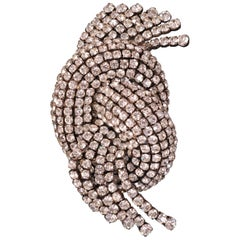 1920's Diamante Dress or Fur Clip Made in France