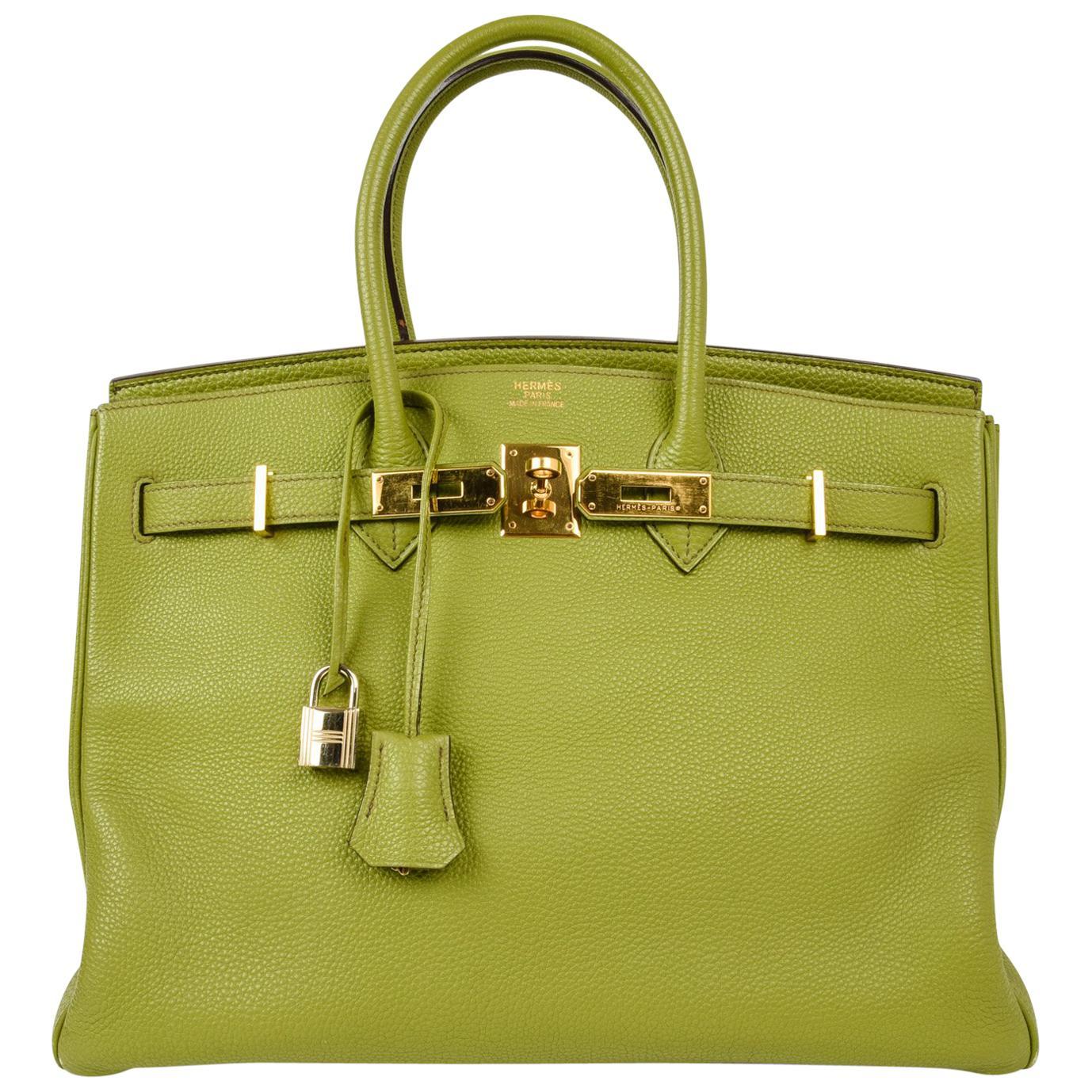 ... uk hermes birkin 35 bag chartreuse togo gold hardware 6077d 794ab ceef85dba0d49