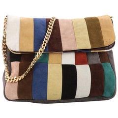 Celine Gourmette Shoulder Bag Suede Large