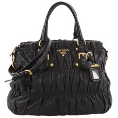 Prada Gaufre Convertible Tote Nappa Leather Medium