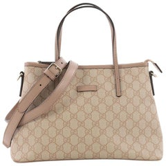 Gucci Convertible Tote GG Coated Canvas Small