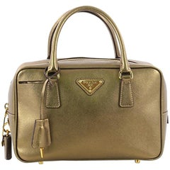 Prada Bauletto Handbag Saffiano Leather Small