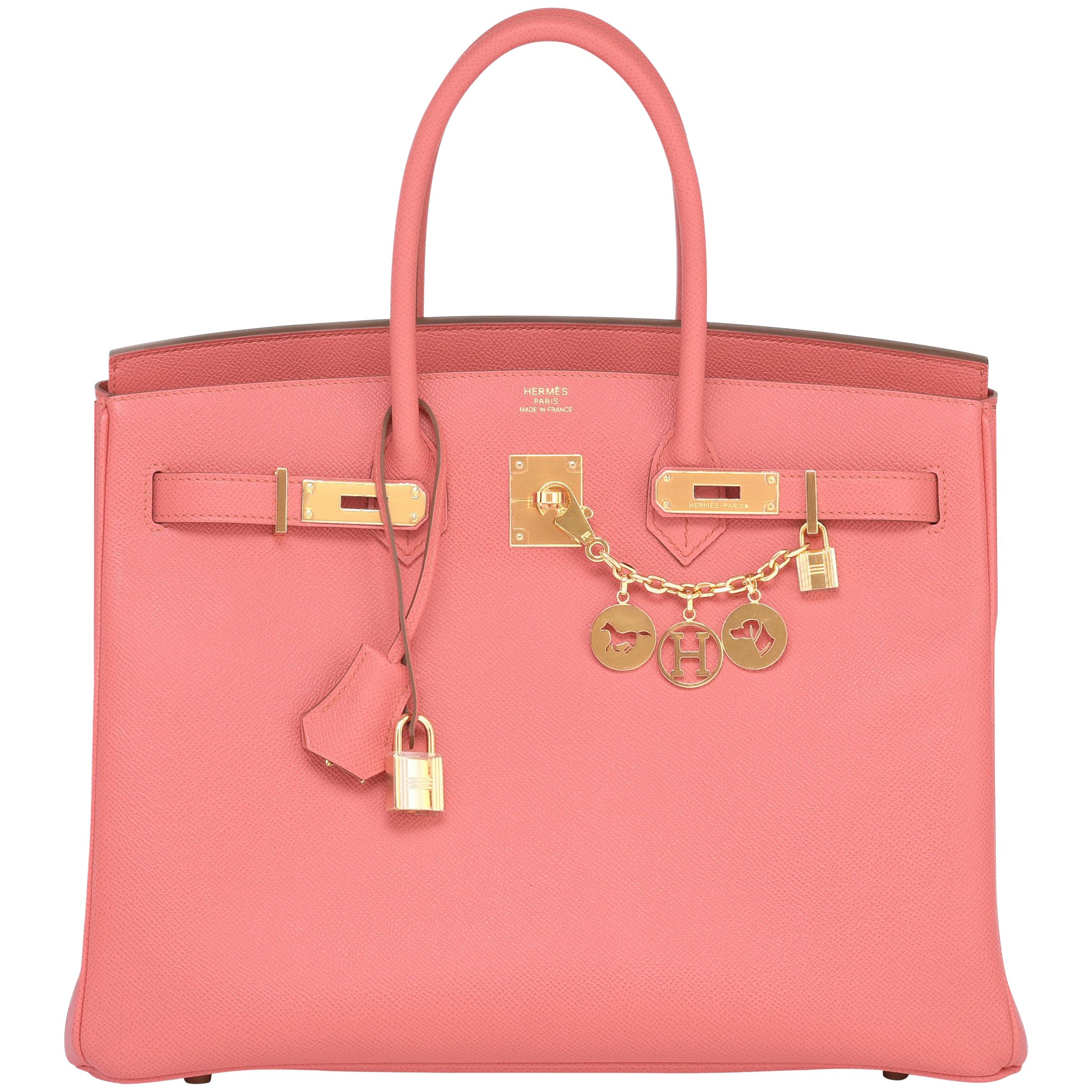 67cbbe914cad Pink Hermes Bags - 125 For Sale on 1stdibs