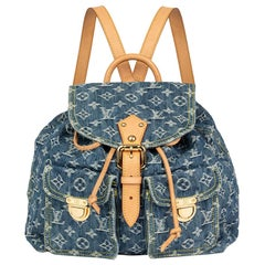 Louis Vuitton Blue Monogram Denim PM Backpack, 2000s