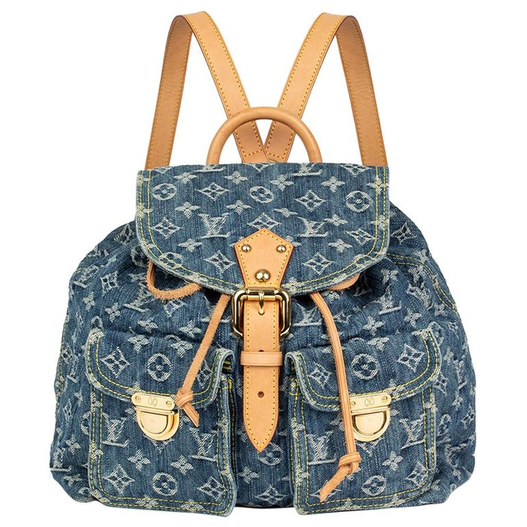 Circa 2000 Louis Vuitton Blue Monogram Denim PM Backpack