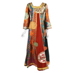 Giorgio di Sant Angelo 1969 Patchwork Klimt Dress in Multiple Museum Collections
